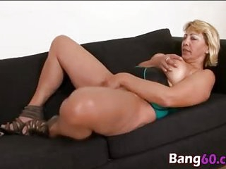 Blonde busty matrure lady slammed hard by big black cock in some nice interracial fornication