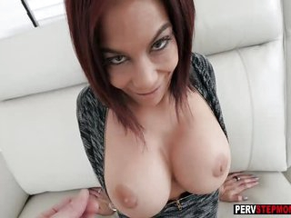 MILF redhead stepmom fucked by a stepson in POV video