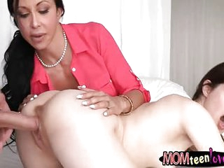 Booby milf Jewels Jade threesome action in the bedroom