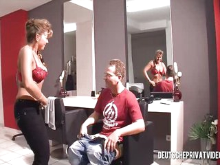 German mom fucks her client