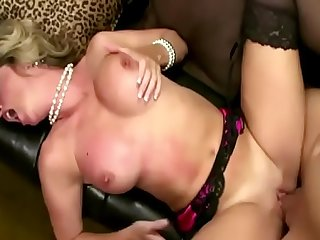 Hot Mom in law share a big tabou with her shy stepson