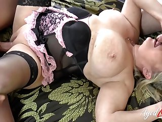 AgedLovE Busty Lady Hardcore Threesome Action