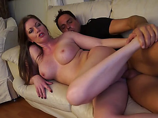 Breasty mommy cheating with juvenile man