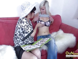 OldNannY Mature is Playing with Lesbian Friend