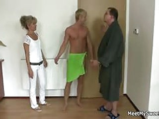 free porno tube Horny mom and dad fucks their son's GF