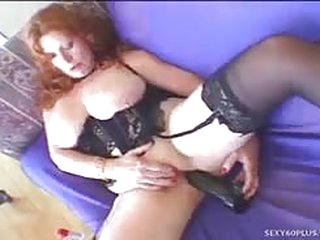 Fat redhead milf gives great head and gets fucked in her fat pussy...
