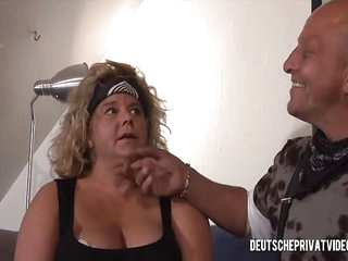 Mature Biker Slut Gets Fucked By A Bald Man